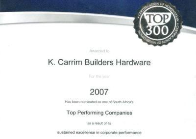 2007 SA Top Performing Companies