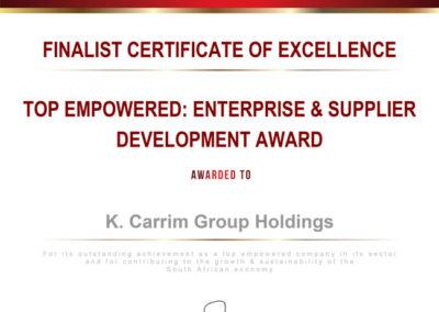 Enterprise and Supplier Development - K Carrim Group Holdings